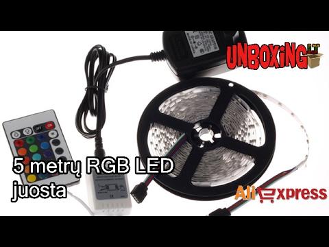 5 Metrų RGB LED Juosta / ALIEXPRESS.COM