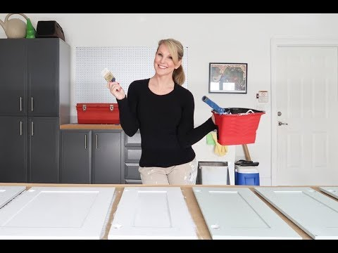 Painting Cabinets How To Hand Paint Or Spray Youtube