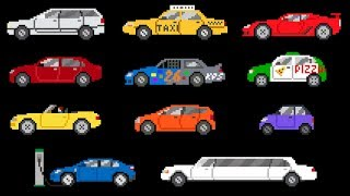 Cars - Book Version - Street Vehicles - The Kids' Picture Show (Fun & Educational Learning Video)