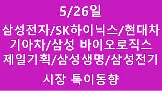 [주식투자]5/26일(삼성전자/SK하이닉스/현대차/기아…