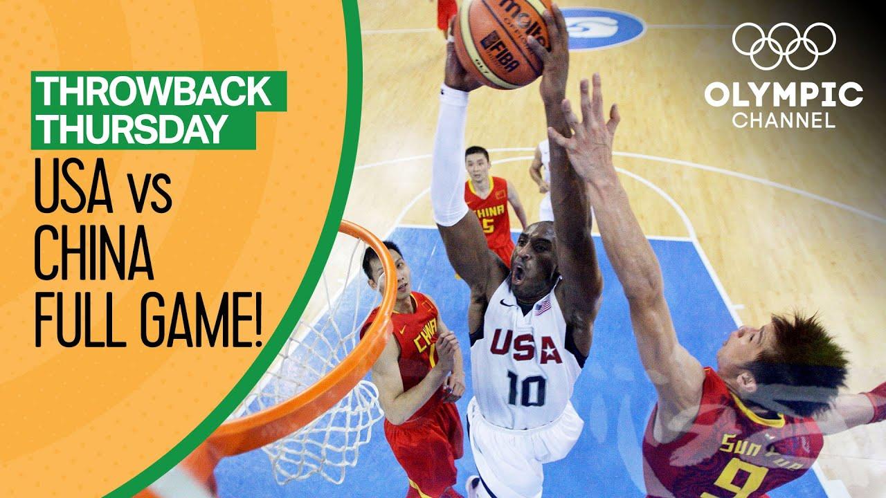 USA v China - Basketball Replays 🏀 Beijing 2008   Throwback Thursday
