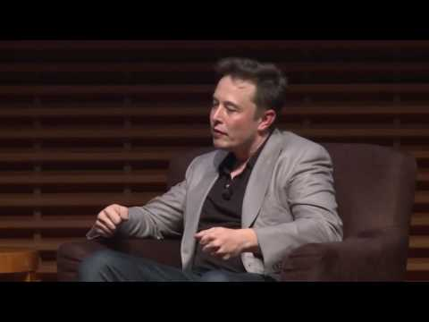 Elon Musk at Stanford before space x