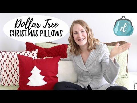 DOLLAR TREE DIY 🎄 Christmas Pillows