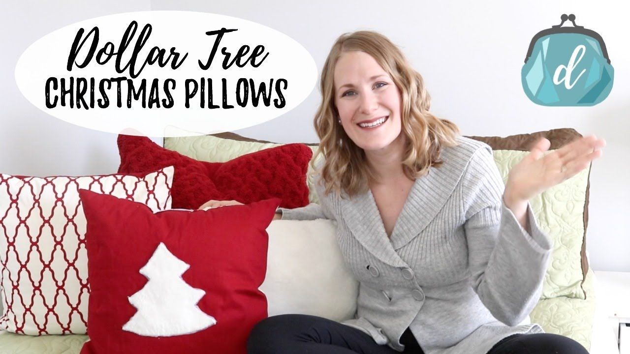 dollar tree diy christmas pillows youtube