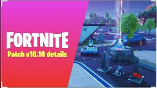 Retail row returns Fortnite Battle Royal v10.10 patch