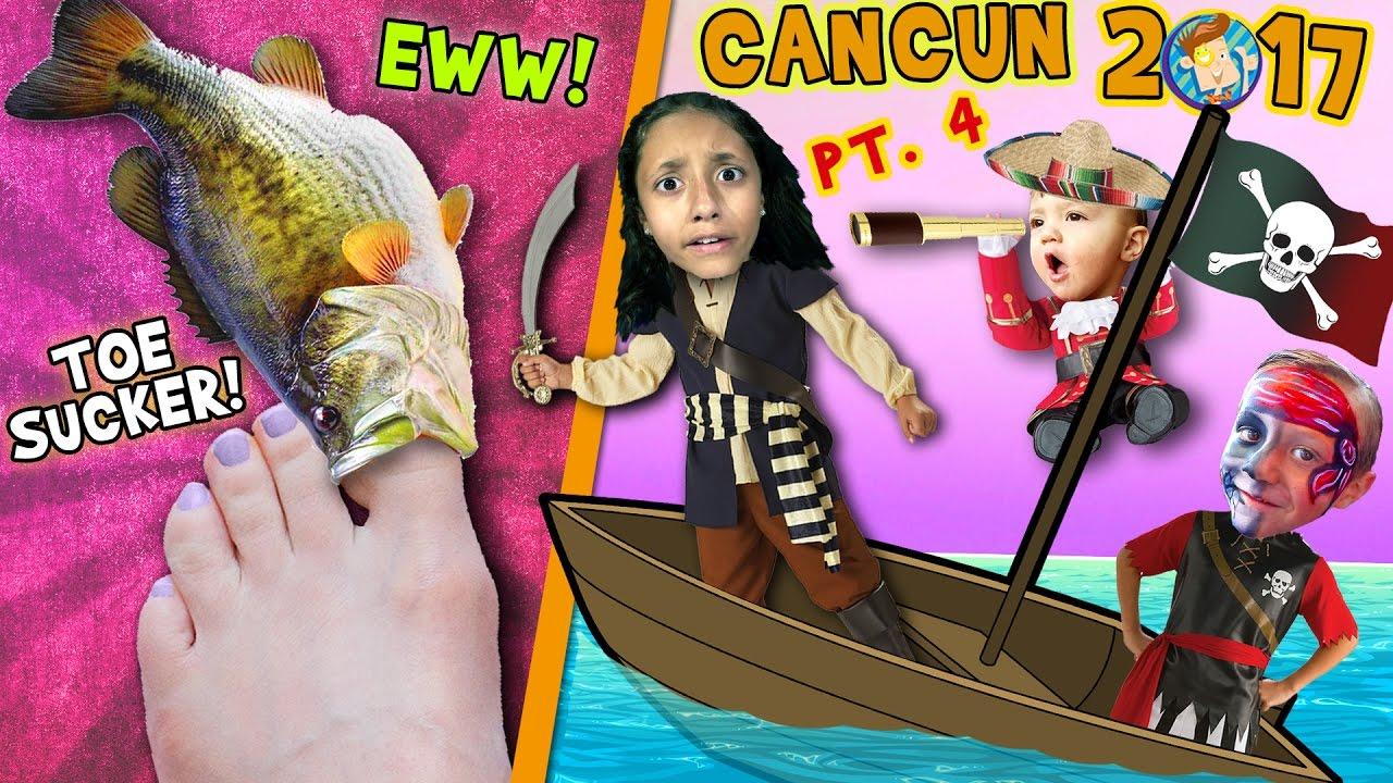 Tå sugende fisker Squishy Tickle fødder MED pirater-9088