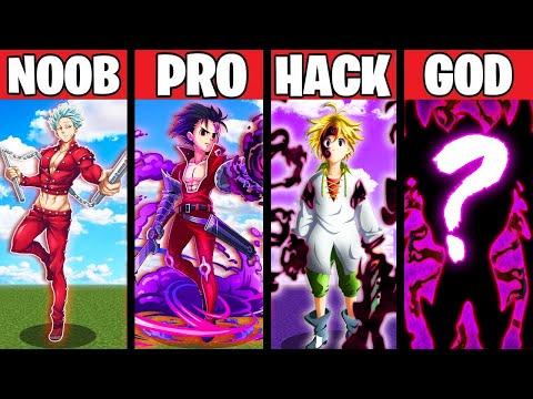 POWERFUL ANIME EVOLUTION CRAFTING! NOOB vs PRO vs HACKER vs GOD in Minecraft Animation