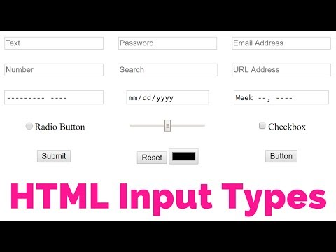 HTML Forms - Learn 18 HTML Input Types | HTML5