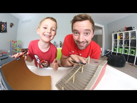 Dad & Son Fingerboarding Time!