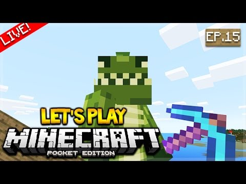 [LIVE NOW] - Let's Play Minecraft Pocket Edition 1.0 - The Chest Room! Episode 15 (Pocket Edition)