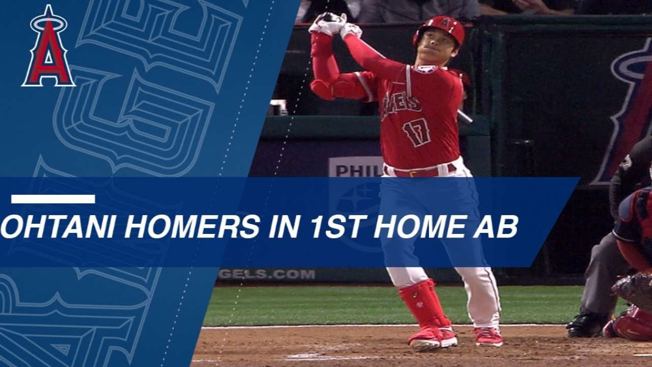 Shohei Ohtani crushed a home run in his third consecutive game