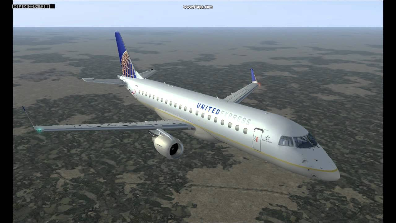 Embraer 175 United Express Fsx Youtube