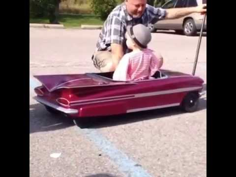 Baby Girl Gets New 1959 IMPALA TOY CAR With Awesome Hydraulic System!