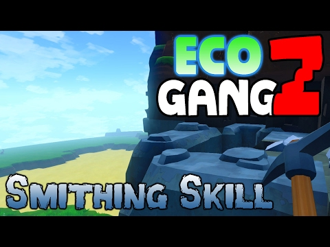 ECO Multiplayer Gameplay - GangZ Co-Op - Ep 1: Smithing Skil