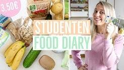GESUND ESSEN für 3,50€ 😱 Food Diary für Studenten | Günstig kochen