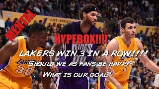 Lakers gossip: Lakers win their 3rd straight game. Why we as fans shouldn't be excited!!!