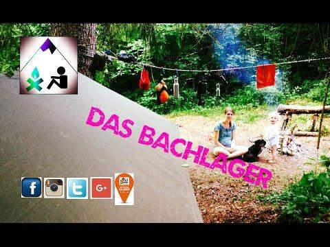 Bushcraften am Bachlager - Forelle vom Lagerfeuer- Outdoor Bavaria