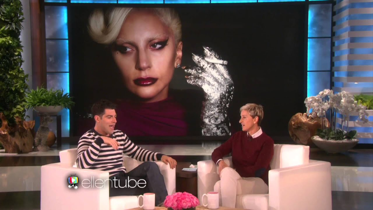 Max Greenfield & Ellen Talk Lady Gaga American Horror