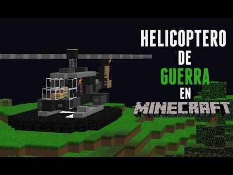 Tutorial como hacer un helicoptero de guerra en minecraft - Decoraciones para minecraft sin mods ...