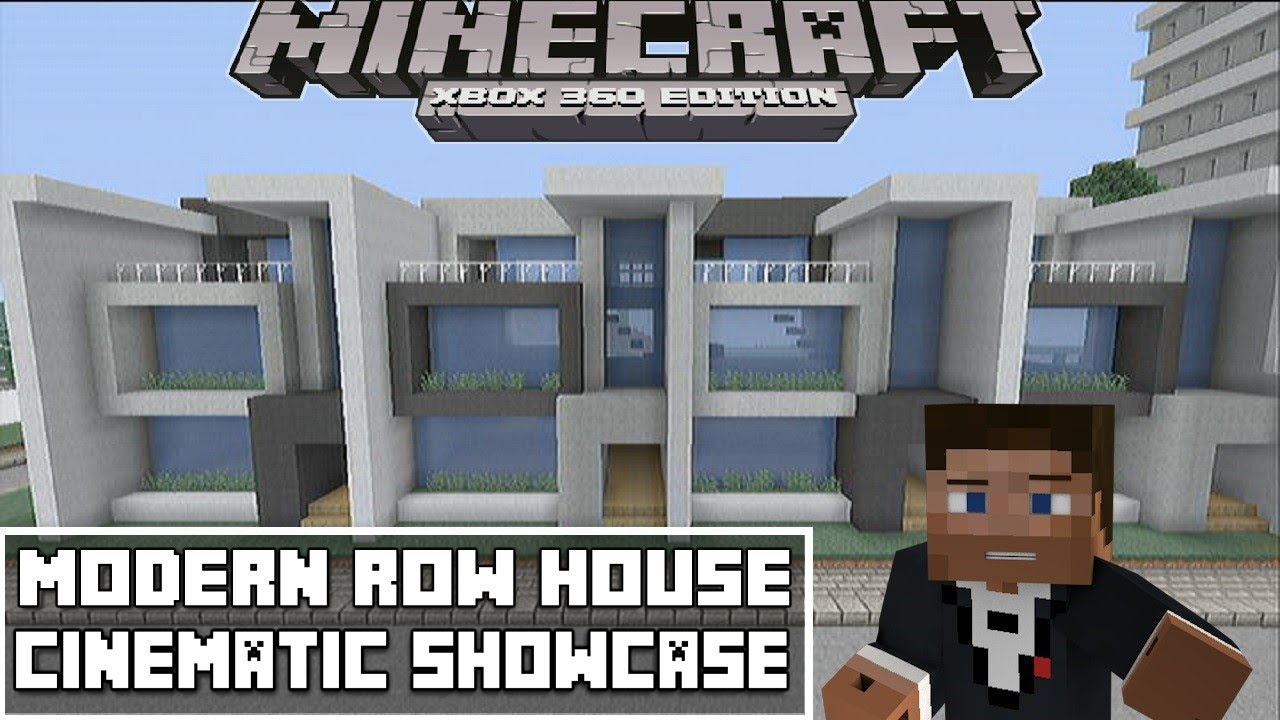 Minecraft Xbox 360 Modern Row House Showcase Youtube
