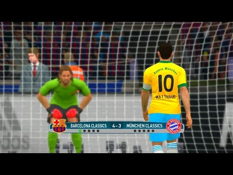 Barcelona Classic vs Bayern Munchen Classic - PES 2017 Penalty Shootout