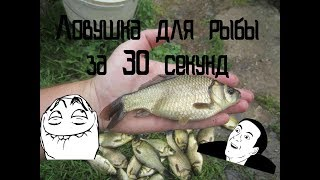 Ловушка для рыбы за 30 секунд!