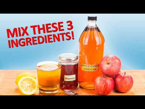 Combine Apple Vinegar, Honey and Lemon For These Amazing Benefits