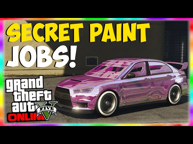 GTA 5 Paint Jobs: SECRET