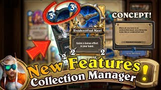 New Hearthstone Collection Manager Features [Concept]: Golden and Regular Cards in One Slot!
