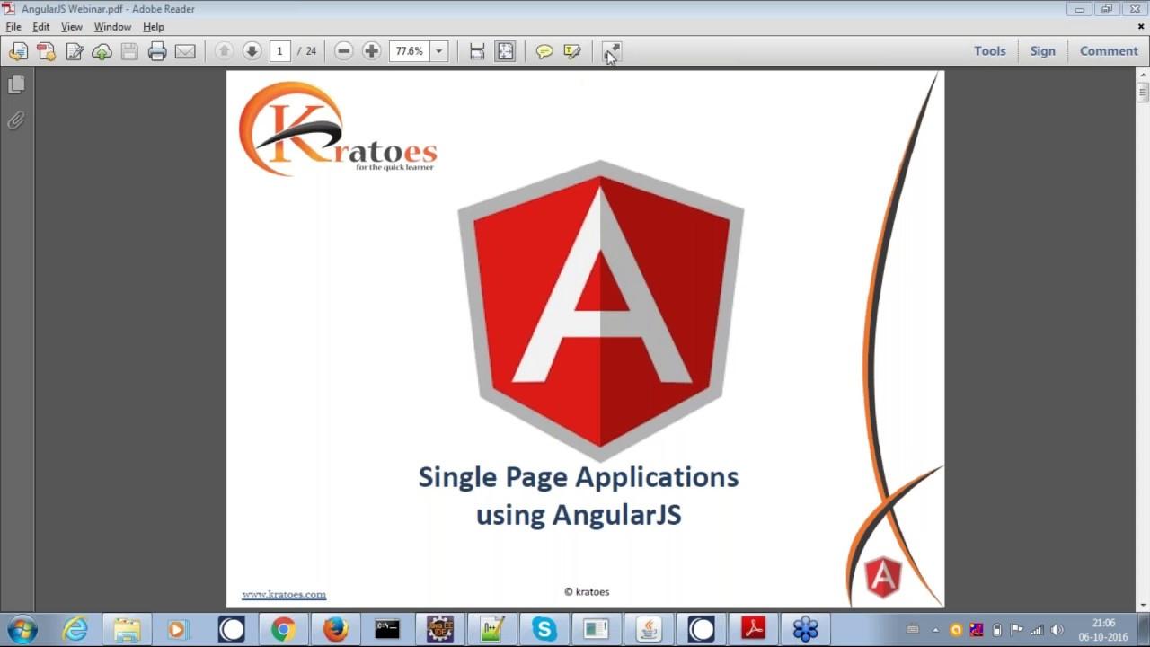 what is angularjs ? angularjs tutorial   creating single page