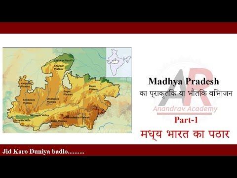 P/1-Madhya Pradesh  का प्राकृतिक या भौतिक विभाजन-For MP PSC; MP SI; MP Vyapma EXAM