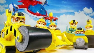PAW PATROL RUBBLE FRIENDS IN AIR PATROLLER GO OUT TO RESCUE MINI PAW PATROL!
