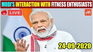 LIVE: PM Modi Interacts With Fitness Aficionados & Citizens During The Fit India Dialogue 24-09-2020