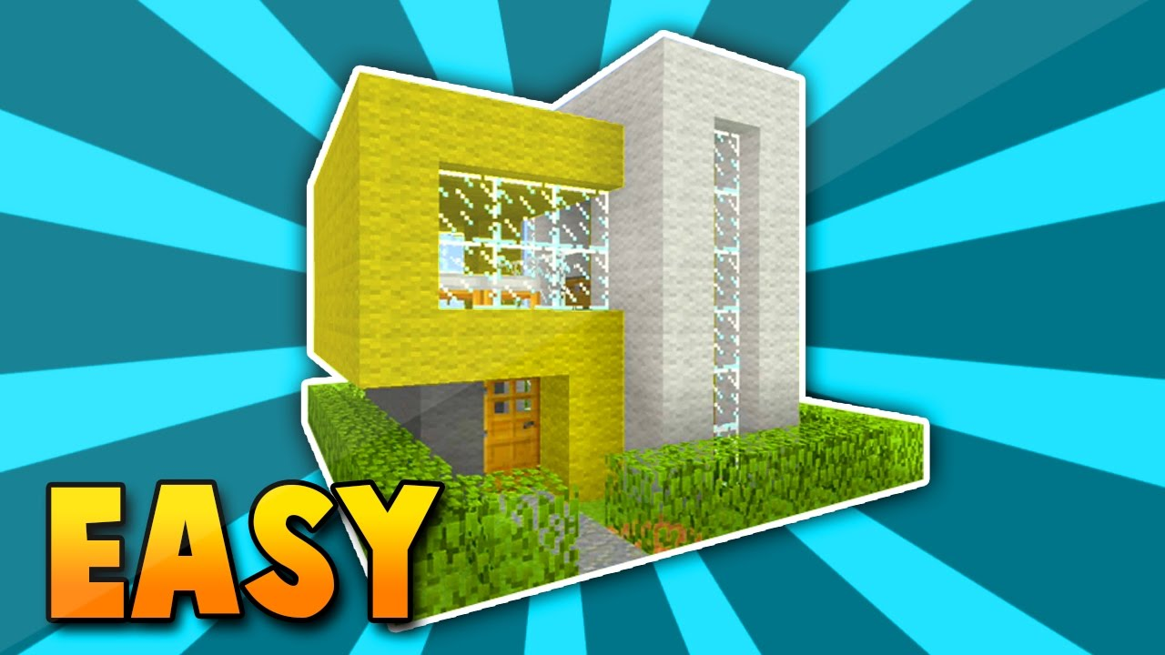 Minecraft small easy modern house tutotrial xbox360 ps3 for Modern house xbox minecraft