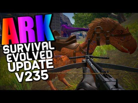 ARK Survival Evolved - TERROR BIRD, GRAPPLING HOOK, TRIBE ALLIANCES V235 (Ark Updates & News)