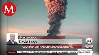 Popocatépetl registra nueva explosión: David León