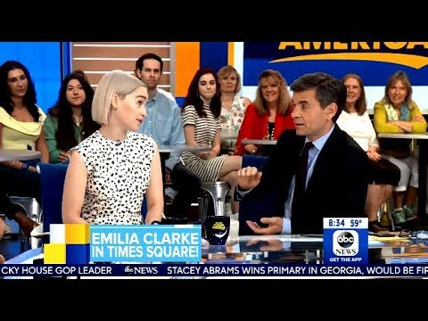 Emilia Clarke Chats Solo Movie & Final Scene For Khaleesi - GMA
