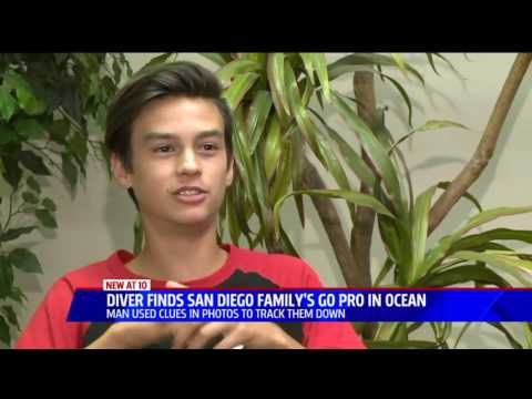 170613010 Diver Returns Family's Lost GoPro Found In Ocean