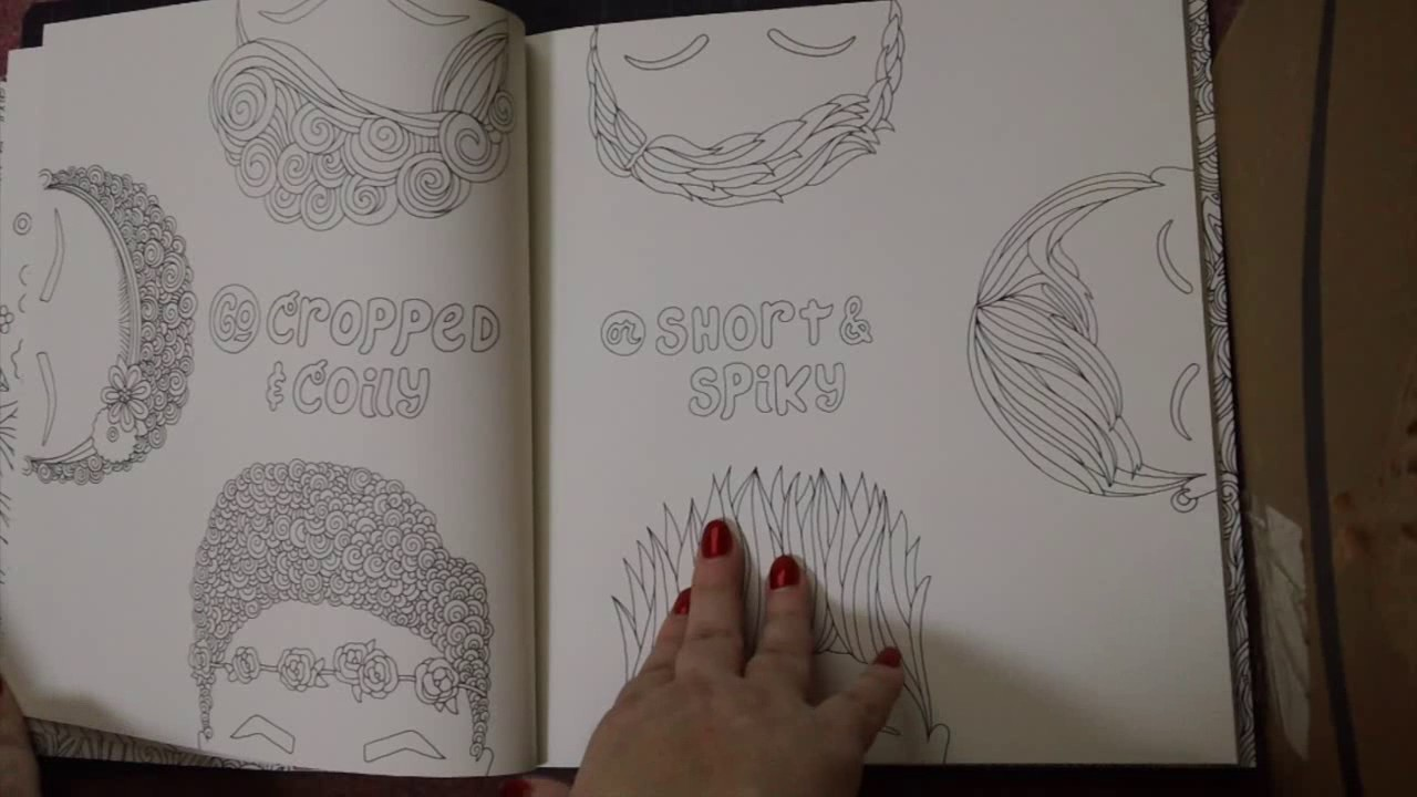Adult Coloring Book Review I Love My Hair