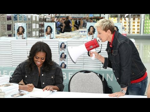 Delana's Dish - Ellen and Michelle Obama go to Costco
