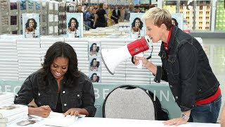 Ellen & Michelle Obama Go to Costco...