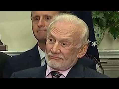Trump Scares Buzz Aldrin