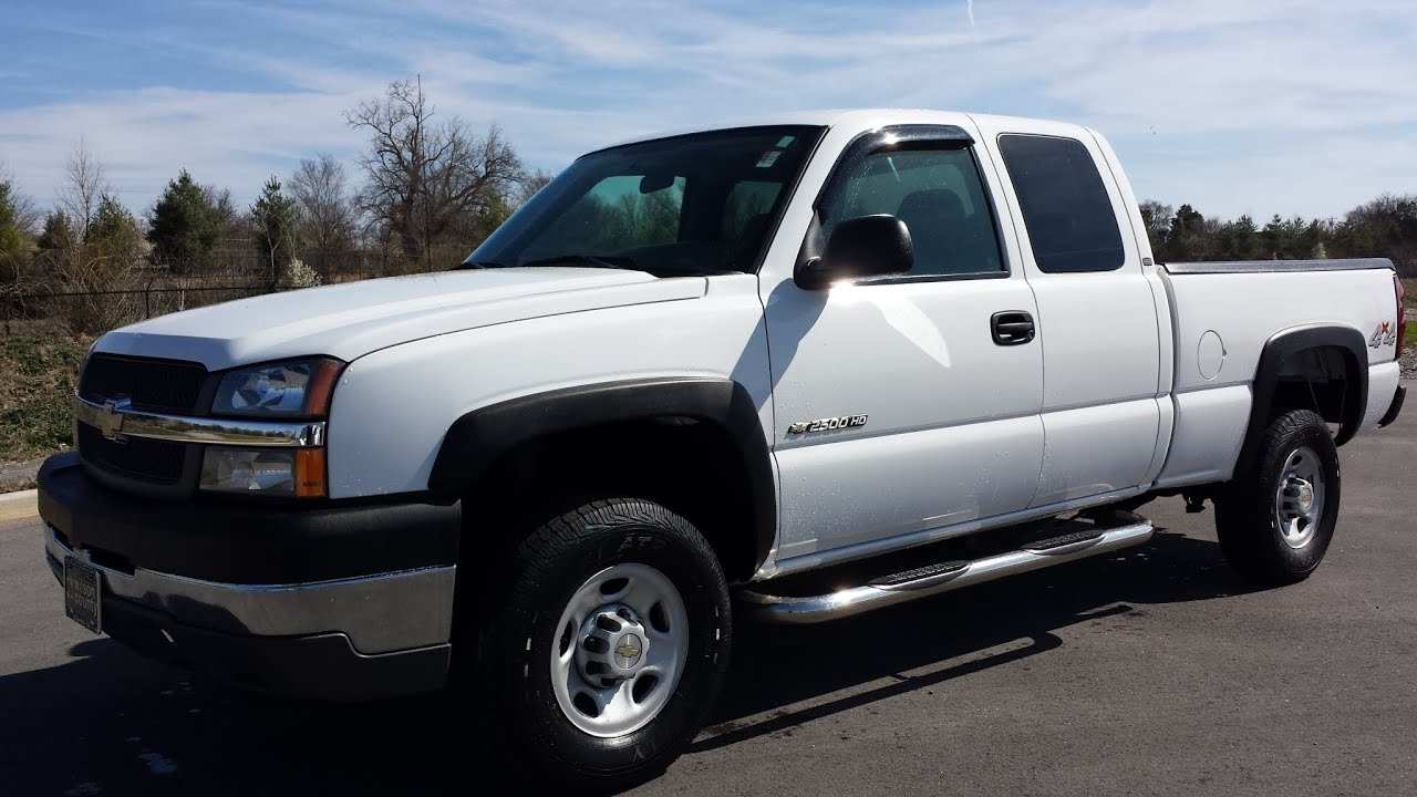 sold.2004 CHEVROLET SILVERADO 2500 HD 4DR EXT CAB 4X4 6.0L ...