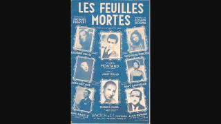 """Cora Vaucaire """"Les feuilles mortes"""" (version originale) Prévert/Kosma"""