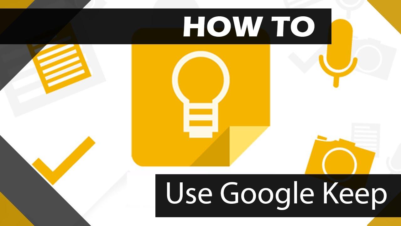 how to use google keep youtube