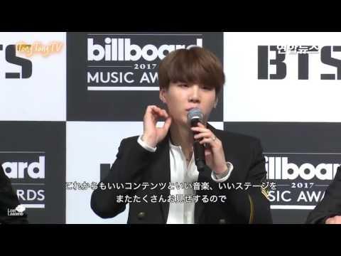 日本語字幕 170529 BTSビルボード記念記者会見 (4) 質疑応答