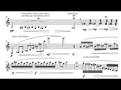 Edifice (for bass clarinet and piano), by David Bennett Thomas