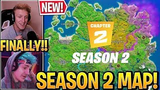 "Streamers React to *NEW* ""MAP SEASON 2 - CHAPTER 2"" in Fortnite (Season 12)"