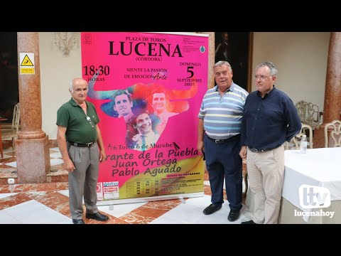 VÍDEO: Morante, Juan Ortega y Pablo Aguado, cartel para la corrida de toros del 5 de septiembre en Lucena.