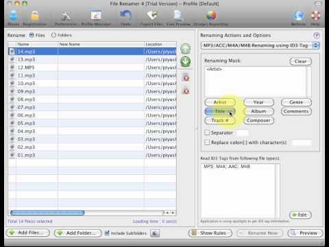 File Renamer for Mac - Rename mp3/mp4 files using ID3 tags